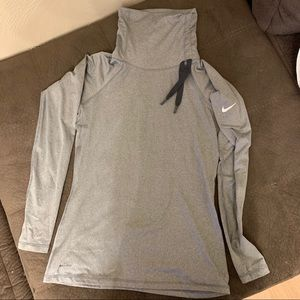 Nike dry fit cowl neck pull over